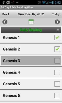 Bible Reading Plan - 90 Day apk screenshot