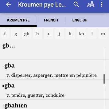 Kroumen piè Dictionnaire poster