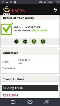 Pakistan Post Mail Tracking apk screenshot