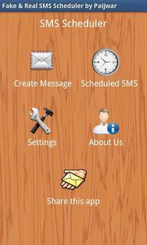 Fake & Real SMS Scheduler poster