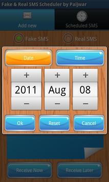 Fake & Real SMS Scheduler apk screenshot