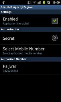 Remote Ringer (FREE) - Paijwar apk screenshot