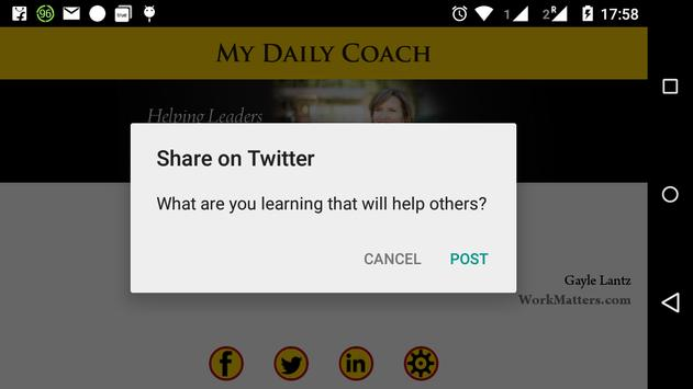 My Daily Coach apk screenshot