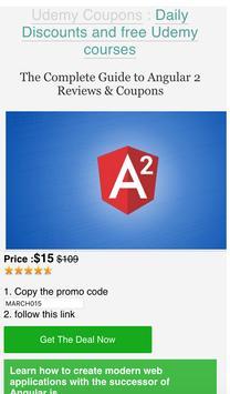 Udemy coupons & free courses apk screenshot