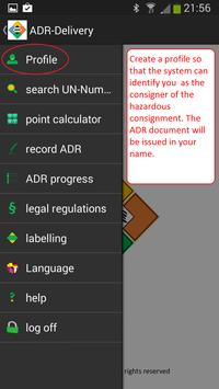 ADR - hazardous goods Lite apk screenshot
