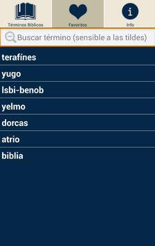 Diccionario Terminos Biblicos apk screenshot