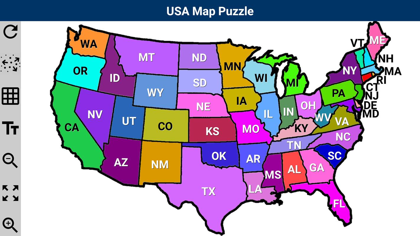 USA Map Puzzle APK Download Free Puzzle GAME for Android – Map Usa Game