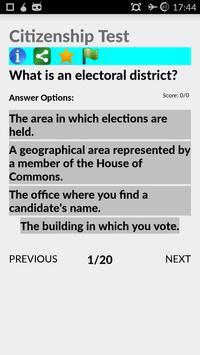 Guide Canada Citizenship Test apk screenshot