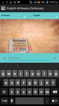 English Afrikaans Dictionary apk screenshot