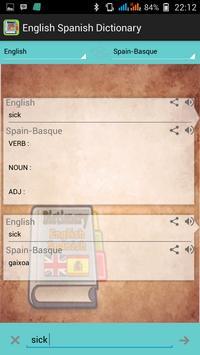 English Spanish Dictionary apk screenshot
