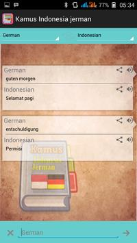 Indonesian German Dictionary apk screenshot