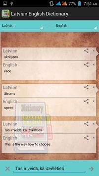 Latvian English Dictionary apk screenshot