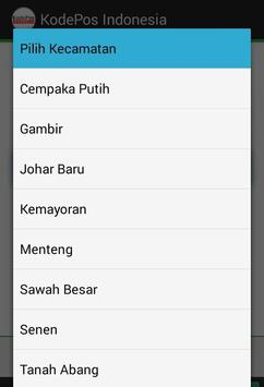 KodePos Indonesia apk screenshot