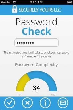 Password Check apk screenshot