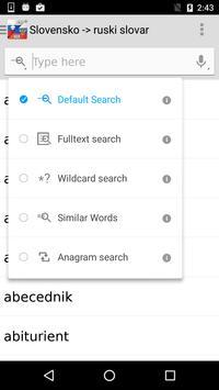 Slovensko -> ruski slovar apk screenshot