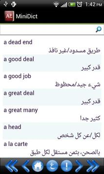 MiniDict Arabic/English apk screenshot