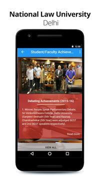 National Law University, Delhi apk screenshot