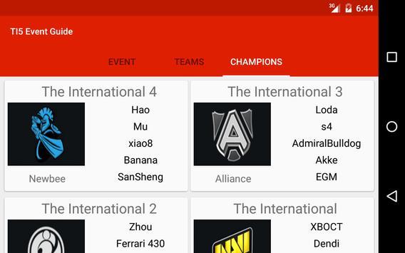 TI5 Event Guide apk screenshot