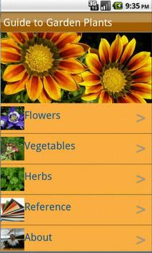 Garden Plants Growing Guide poster