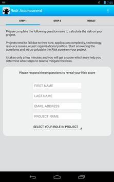 Risk Assessment Calculator apk screenshot