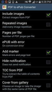 PDF to ePub Converter apk screenshot