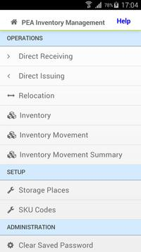 PEA Inventory Management APP apk screenshot