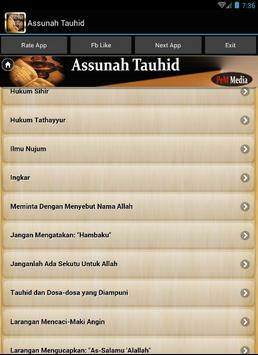 As sunah Tauhid apk screenshot