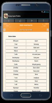 Resep Ayam Lebaran apk screenshot