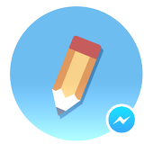 Pencil for messenger icon