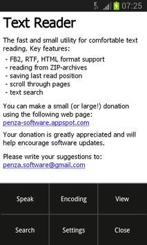 Text Reader poster
