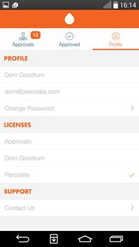 Percolate Approver apk screenshot
