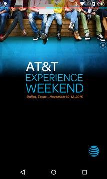 AT&T Experience Weekend 2016 poster