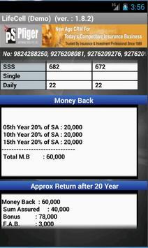 LifeCell Premium Calculator apk screenshot