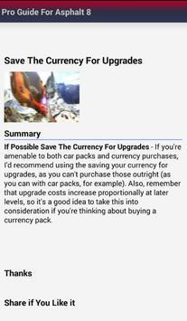 Best Guide for Asphalt 8 apk screenshot