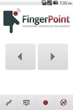 Finger Point PowerPoint poster