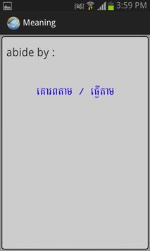 English-Khmer Phrasal Verb apk screenshot