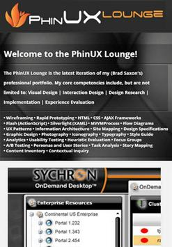 PhinUX Lounge poster