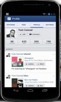 Rview Pandora Radio Music apk screenshot