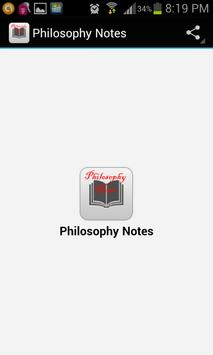 Philosophy Notes poster