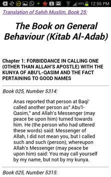 Sahih Muslim in English apk screenshot