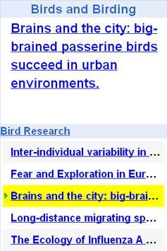Bird and Bird Watching Updates apk screenshot