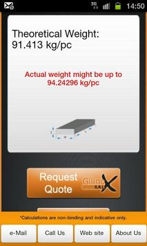 Metal Weight Calculator apk screenshot