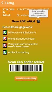 ISA ADR / CLP artikel scan apk screenshot