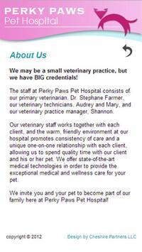 Perky Paws Pet Hospital apk screenshot