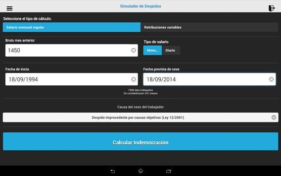 Simulador de despido y ceses apk screenshot
