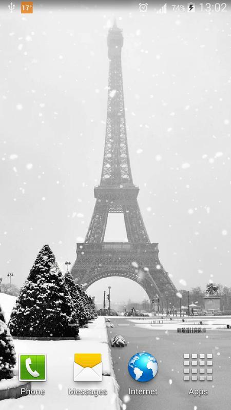 snow in paris live wallpaper apk download free personalization app