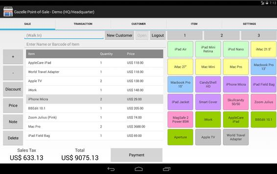 Gazelle POS for Android Tablet poster