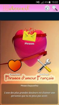 Phrases d'amour Francais poster