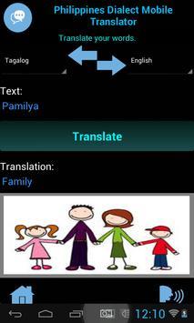 Philippines Dialect Translator apk screenshot