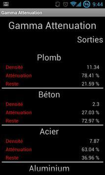 Gamma attenuation apk screenshot